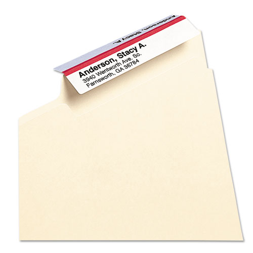 """Viewables Hanging Folder Tab Label Pack Refill, 1/3-Cut Tabs, Assorted Colors, 3.5"""" Wide, 160/Pack. Picture 6"""