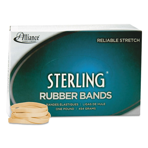 "Sterling Rubber Bands, Size 62, 0.03"" Gauge, Crepe, 1 lb Box, 600/Box. Picture 2"