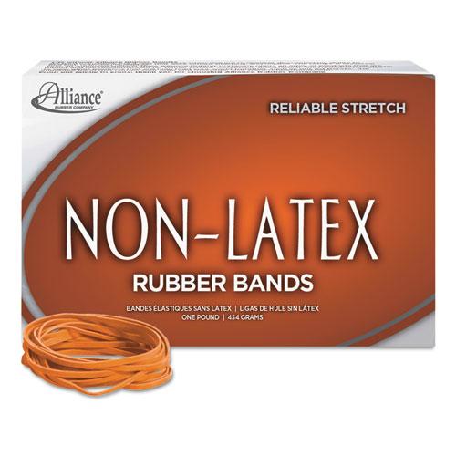 "Non-Latex Rubber Bands, Size 33, 0.04"" Gauge, Orange, 1 lb Box, 720/Box. Picture 2"
