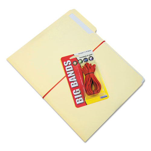 """Big Bands Rubber Bands, Size 117B, 0.06"""" Gauge, Red, 12/Pack. Picture 3"""