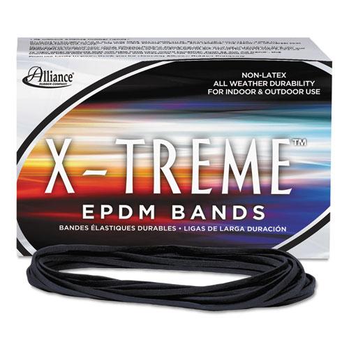 """X-Treme Rubber Bands, Size 117B, 0.08"""" Gauge, Black, 1 lb Box, 200/Box. Picture 1"""