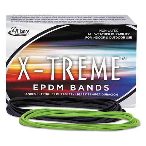 "X-Treme Rubber Bands, Size 117B, 0.08"" Gauge, Lime Green, 1 lb Box, 200/Box. Picture 1"