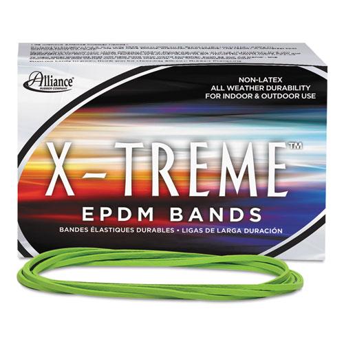 "X-Treme Rubber Bands, Size 117B, 0.08"" Gauge, Lime Green, 1 lb Box, 200/Box. Picture 3"
