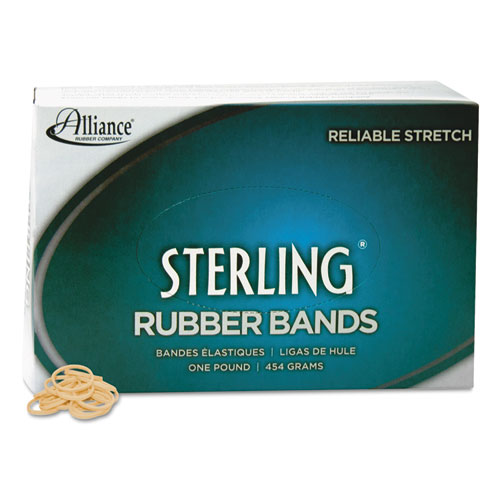 """Sterling Rubber Bands, Size 8, 0.03"""" Gauge, Crepe, 1 lb Box, 7,100/Box. Picture 3"""