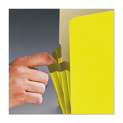 """Colored File Pockets, 3.5"""" Expansion, Legal Size, Yellow. Picture 4"""