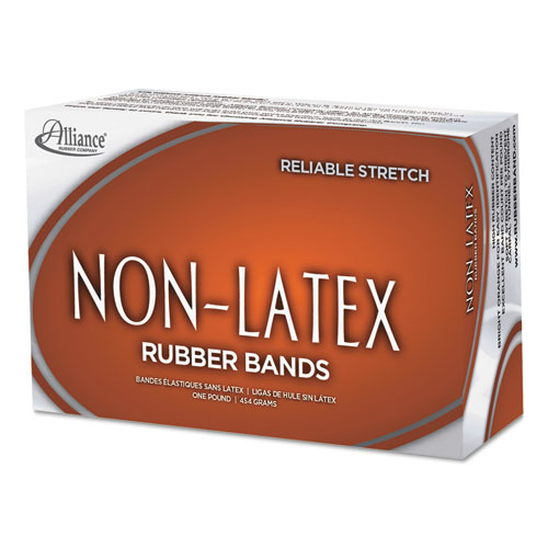 "Non-Latex Rubber Bands, Size 64, 0.04"" Gauge, Orange, 1 lb Box, 380/Box. Picture 4"