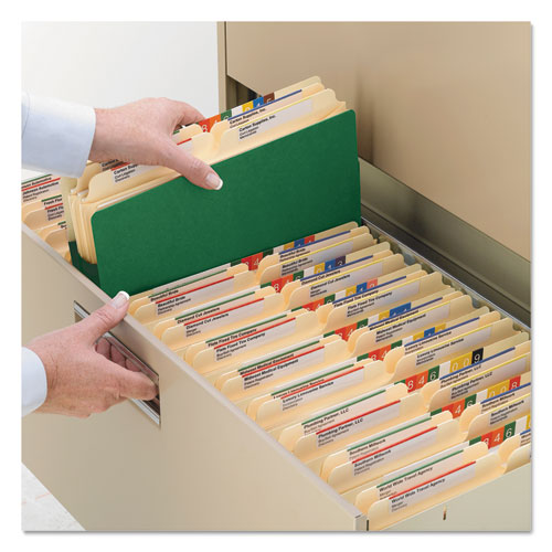"""Colored File Pockets, 5.25"""" Expansion, Letter Size, Green. Picture 5"""