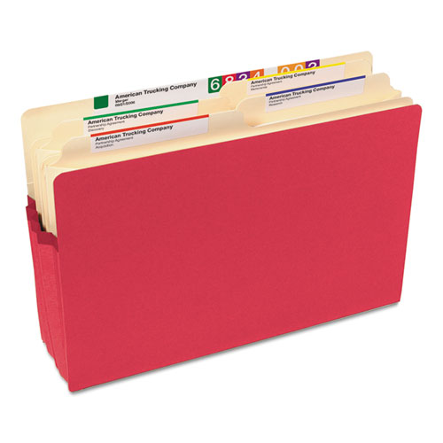 """Colored File Pockets, 3.5"""" Expansion, Legal Size, Red. Picture 2"""