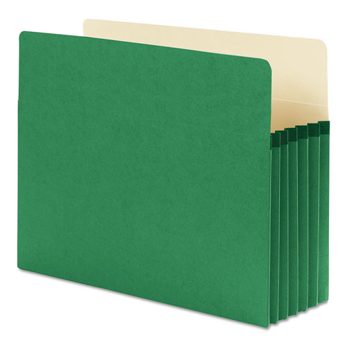 """Colored File Pockets, 5.25"""" Expansion, Letter Size, Green. Picture 2"""