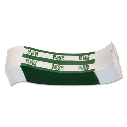 Currency Straps Green 200 In Dollar Bills 1000 Bands Pack