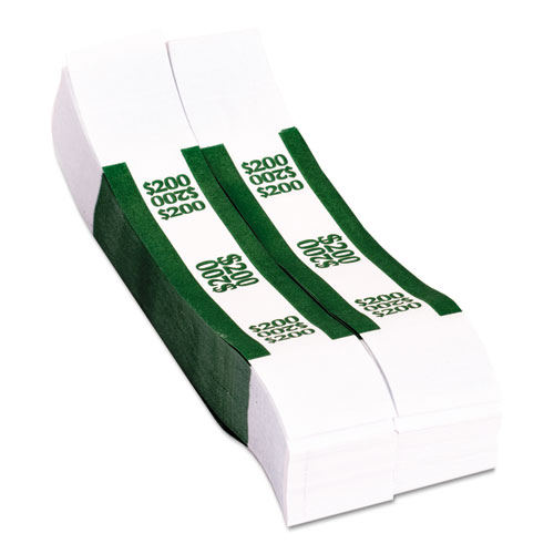 Currency Straps, Green, $200 in Dollar Bills, 1000 Bands/Pack. Picture 3