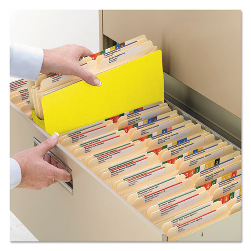 """Colored File Pockets, 3.5"""" Expansion, Legal Size, Yellow. Picture 5"""