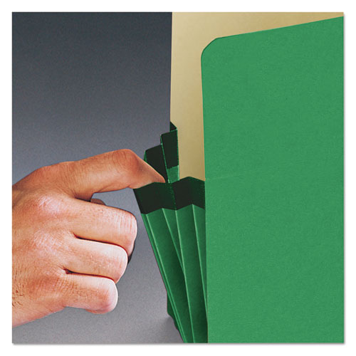 """Colored File Pockets, 3.5"""" Expansion, Legal Size, Green. Picture 4"""