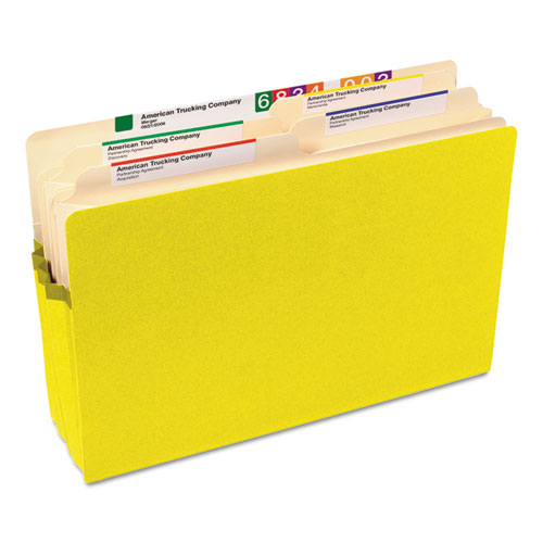 """Colored File Pockets, 3.5"""" Expansion, Legal Size, Yellow. Picture 2"""