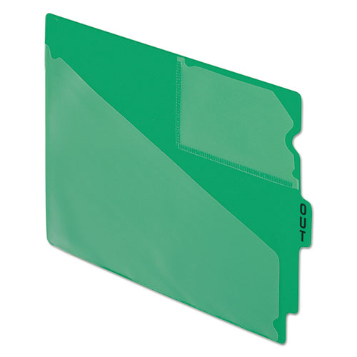 Colored Poly Out Guides with Center Tab, 1/3-Cut End Tab, Out, 8.5 x 11, Green, 50/Box. Picture 1