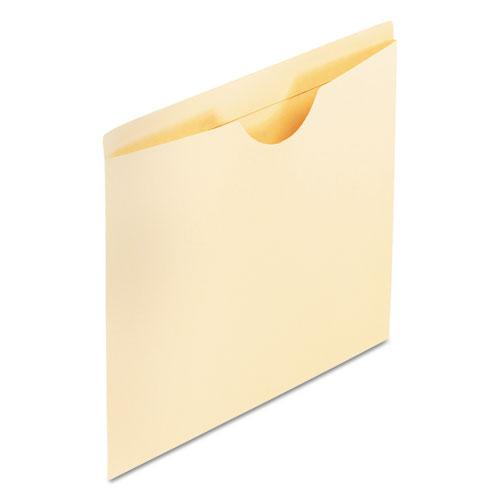 Manila Reinforced File Jackets, 2-Ply Straight Tab, Legal Size, Manila, 100/Box. Picture 1