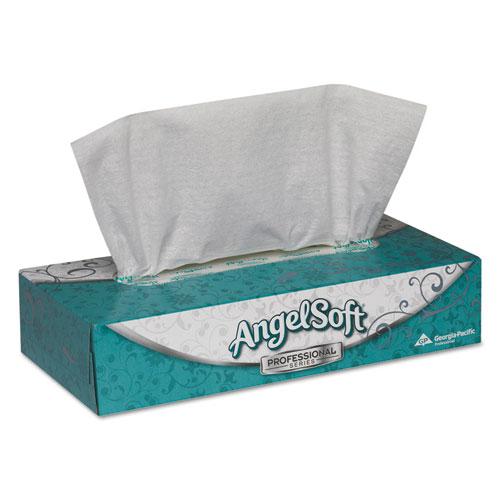 Premium Facial Tissues, 2-Ply, White, 100 Sheets/Flat Box, 30 Boxes/Carton. Picture 1