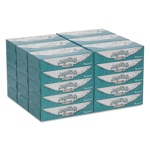 Premium Facial Tissues, 2-Ply, White, 100 Sheets/Flat Box, 30 Boxes/Carton. Picture 3