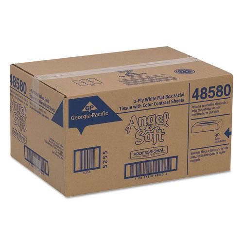 Premium Facial Tissues, 2-Ply, White, 100 Sheets/Flat Box, 30 Boxes/Carton. Picture 4