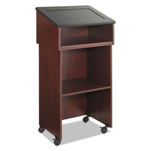 Tabletop Lectern, 24w x 20d x 13.5h, Mahogany/Black. Picture 5