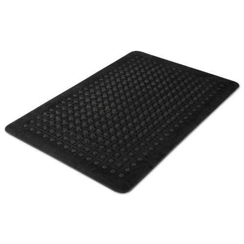 Flex Step Rubber Anti-Fatigue Mat, Polypropylene, 24 x 36, Black. Picture 2