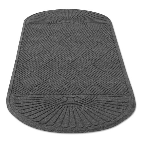 EcoGuard Diamond Floor Mat, Double Fan, 36 x 96, Charcoal. Picture 9