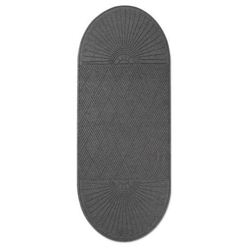 EcoGuard Diamond Floor Mat, Double Fan, 36 x 96, Charcoal. Picture 10