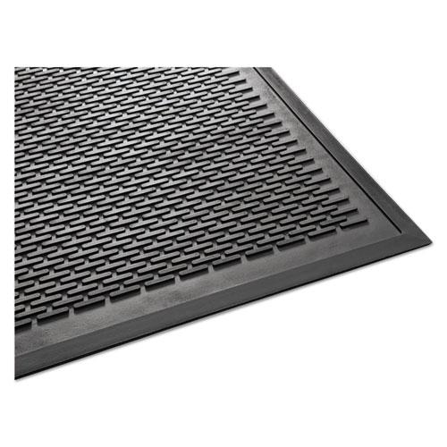 Clean Step Outdoor Rubber Scraper Mat, Polypropylene, 36 x 60, Black. Picture 4