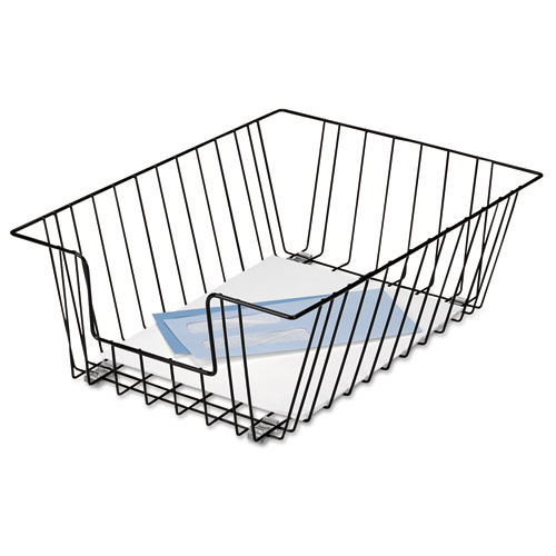 """Wire Desk Tray Organizer, 1 Section, Legal Size Files, 12"""" x 16.5"""" x 5"""", Black. Picture 2"""