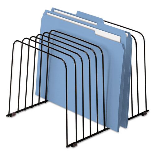 """Wire Desktop Organizer, 11 Sections, Letter to Legal Size Files, 9"""" x 11.38"""" x 8"""", Black. Picture 4"""