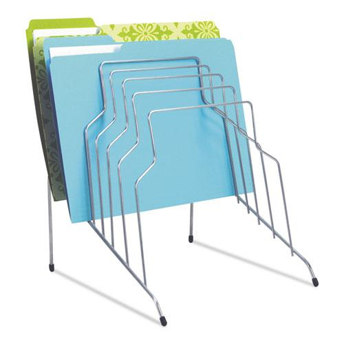 """Wire Step File, 8 Sections, Letter to Legal Size Files, 10.13"""" x 12.13"""" x 11.81"""", Silver. Picture 2"""