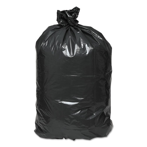 """Linear Low Density Recycled Can Liners, 45 gal, 1.65 mil, 40"""" x 46"""", Black, 100/Carton. Picture 2"""