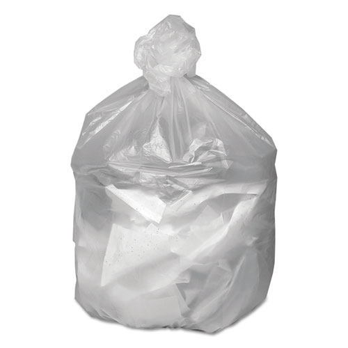 """Waste Can Liners, 30 gal, 8 microns, 30"""" x 36"""", Natural, 500/Carton. Picture 2"""