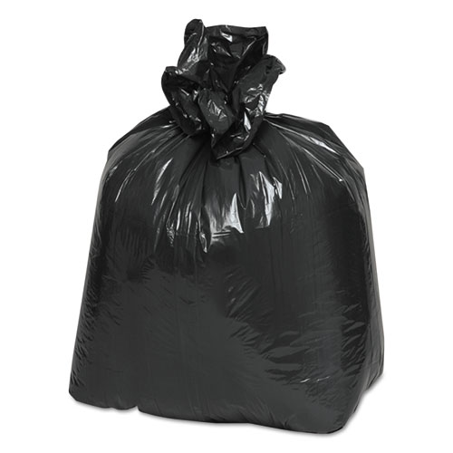 """Linear Low Density Recycled Can Liners, 10 gal, 0.85 mil, 24"""" x 23"""", Black, 500/Carton. Picture 2"""