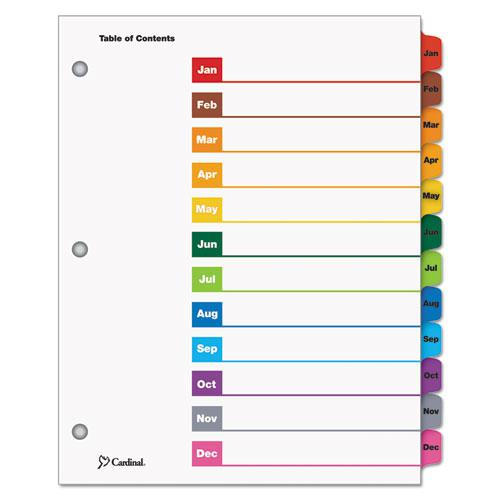 OneStep Printable Table of Contents and Dividers, 12-Tab, Jan. to Dec., 11 x 8.5, White, 1 Set. Picture 1