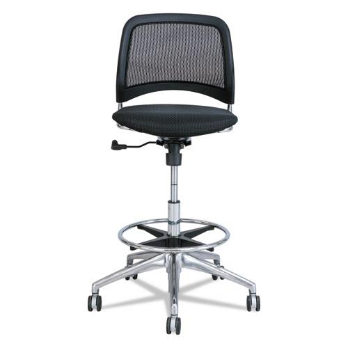 Reve Mesh Extended-Height Chair, Supports up to 250 lbs., Black Seat/Black Back, Chrome Base. Picture 2