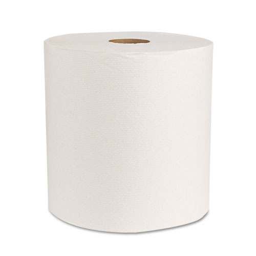 "Boardwalk Green Universal Roll Towels, Natural White, 8""x800ft, 6 Rolls/Carton. Picture 1"