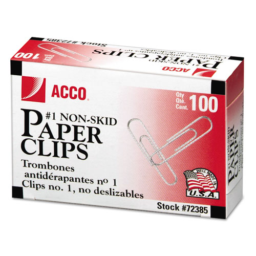 Paper Clips, Medium (No. 1), Silver, 1,000/Pack. Picture 1