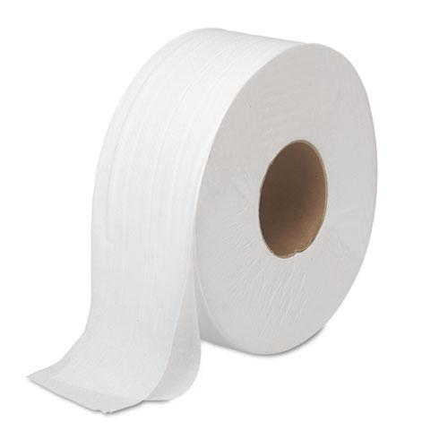 "JRT Bath Tissue, Jumbo, Septic Safe, 2-Ply, White, 3.5"" x 1000 ft, 12 Rolls/Carton. Picture 1"