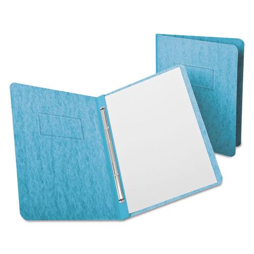 "PressGuard Report Cover, Prong Clip, Letter, 3"" Capacity, Light Blue. Picture 1"