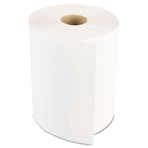 Hardwound Paper Towels, Nonperforated 1-Ply White, 350 ft, 12 Rolls/Carton. Picture 1