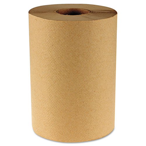 """Hardwound Paper Towels, 8"""" x 350ft, 1-Ply Natural, 12 Rolls/Carton. Picture 1"""
