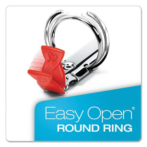 """Premier Easy Open Locking Round Ring Binder, 3 Rings, 3"""" Capacity, 11 x 8.5, Red. Picture 4"""