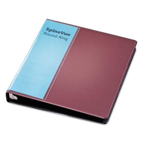 """Spine Vue Locking Round Ring Binder, 3 Rings, 1"""" Capacity, 11 x 8.5, Maroon. Picture 2"""