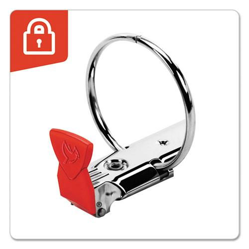"""Premier Easy Open Locking Round Ring Binder, 3 Rings, 3"""" Capacity, 11 x 8.5, Red. Picture 2"""