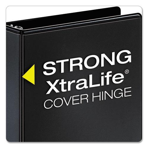 """Performer ClearVue Slant-D Ring Binder, 3 Rings, 3"""" Capacity, 11 x 8.5, Black. Picture 5"""