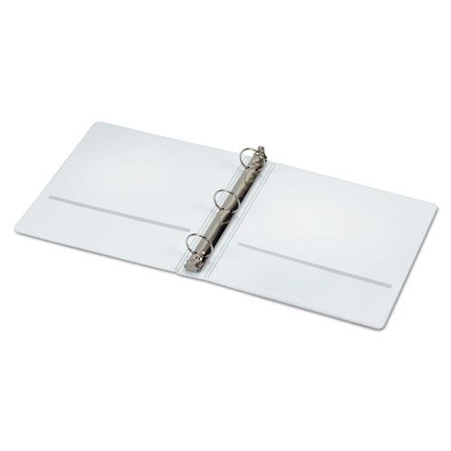 "Spine Vue Locking Round Ring Binder, 3 Rings, 1.5"" Capacity, 11 x 8.5, White. Picture 2"