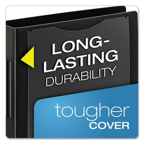 "SuperLife Pro Easy Open ClearVue Locking Slant-D Ring Binder, 3 Rings, 1"" Capacity, 11 x 8.5, Black. Picture 6"