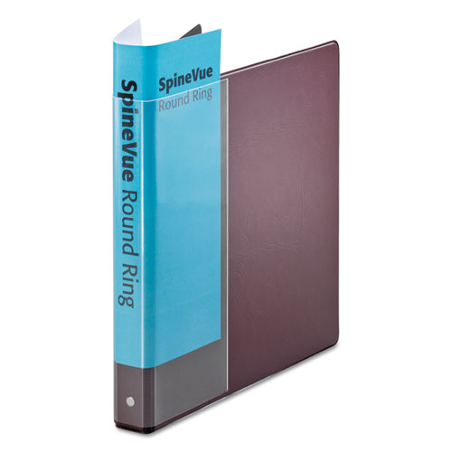 """Spine Vue Locking Round Ring Binder, 3 Rings, 1"""" Capacity, 11 x 8.5, Maroon. Picture 1"""