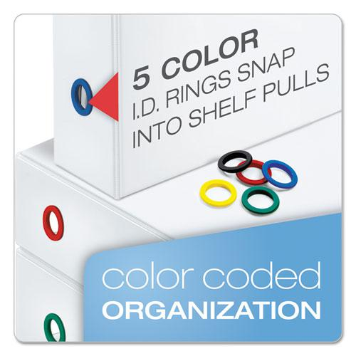 "FreeStand Easy Open Locking Slant-D Ring Binder, 3 Rings, 5"" Capacity, 11 x 8.5, White. Picture 3"